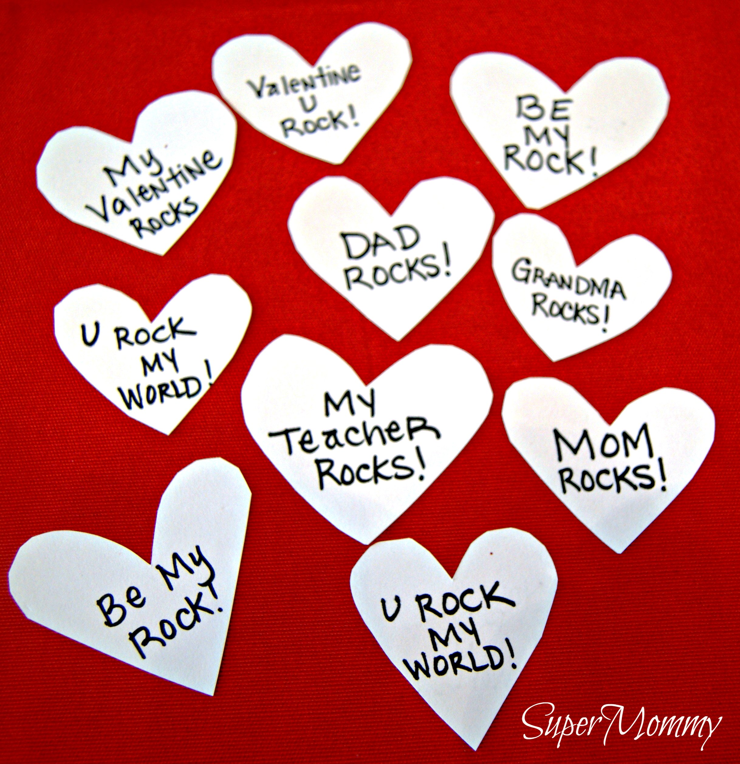 You Rock my world  A unique Valentines card idea