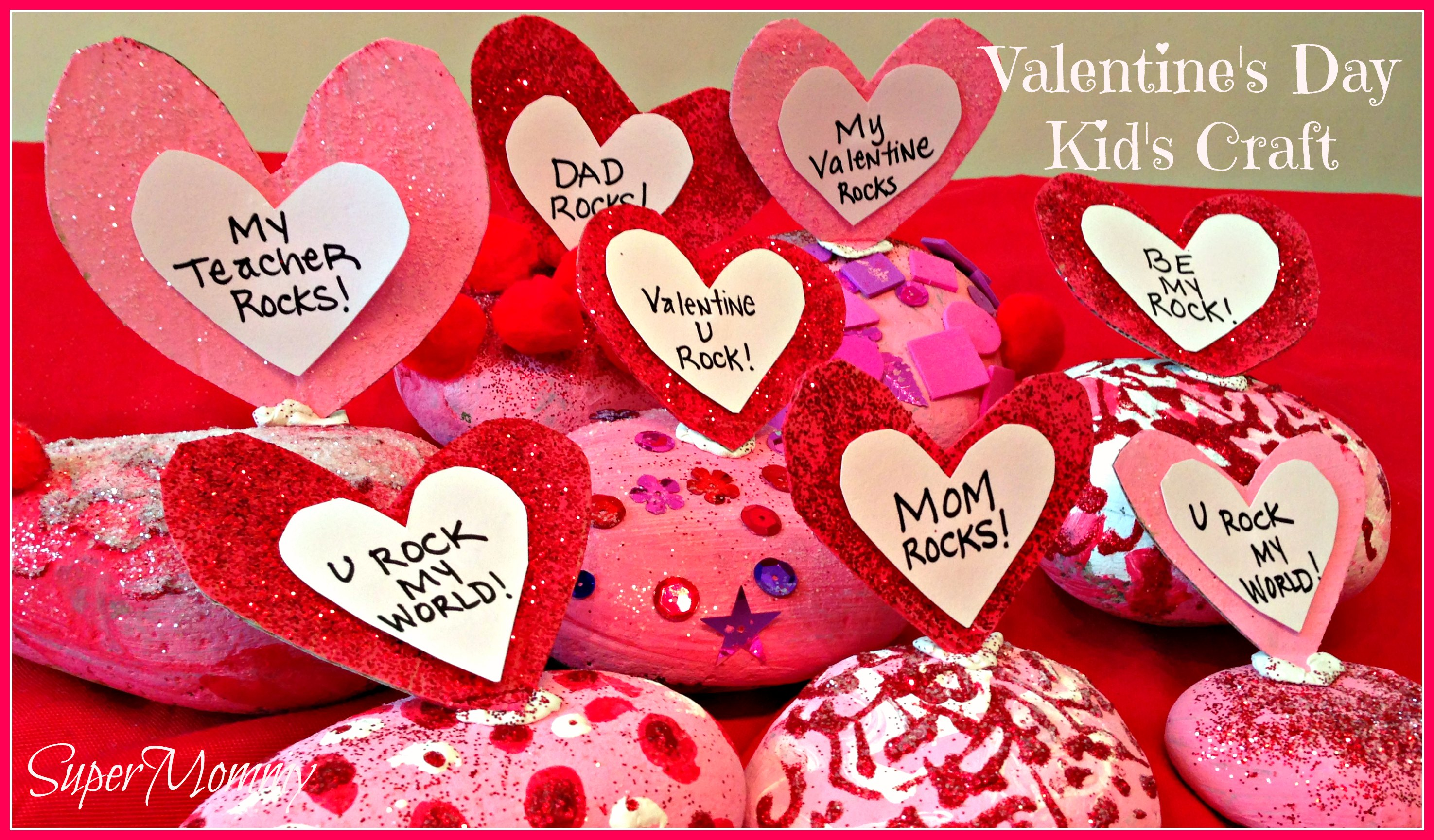 Valentine 39 s day easy craft for kids conversation rocks for Kids valentines day craft