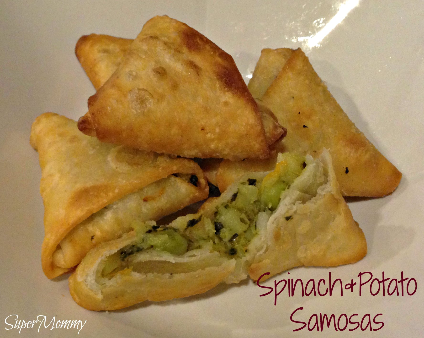Spinach potato samosa party sized recipe forumfinder Image collections