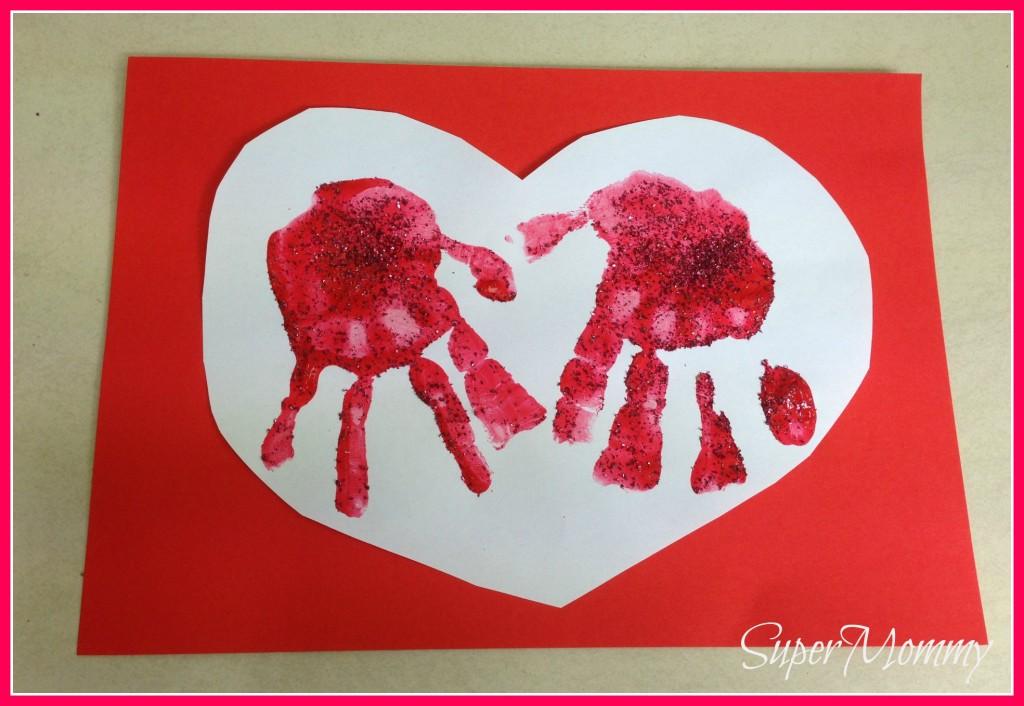 easy kid u0026 39 s valentine u0026 39 s day handprint heart cards