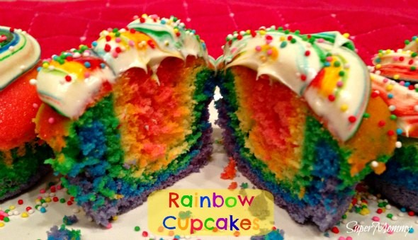 Super Easy - How to Make Rainbow Cupcakes