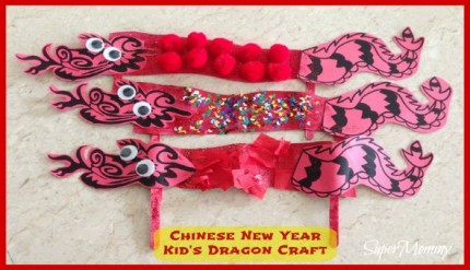 Easy Kid's Craft for Preschoolers/Toddlers - Chinese New Year Dragon