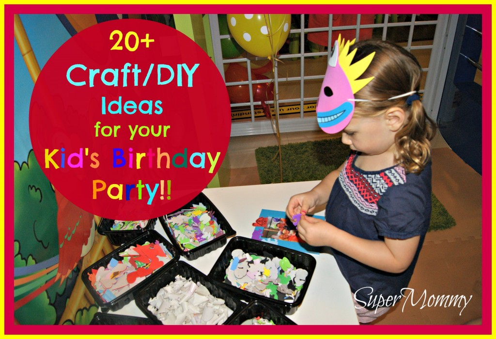20 diy craft ideas for your kid 39 s birthday party for Crafts for birthday parties