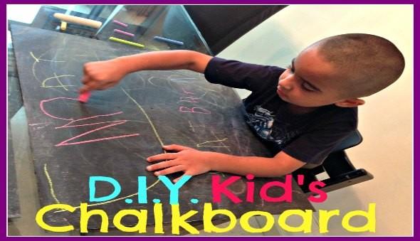 DIY - Make Your Own Kids Chalkboard - Easy Kids Activity