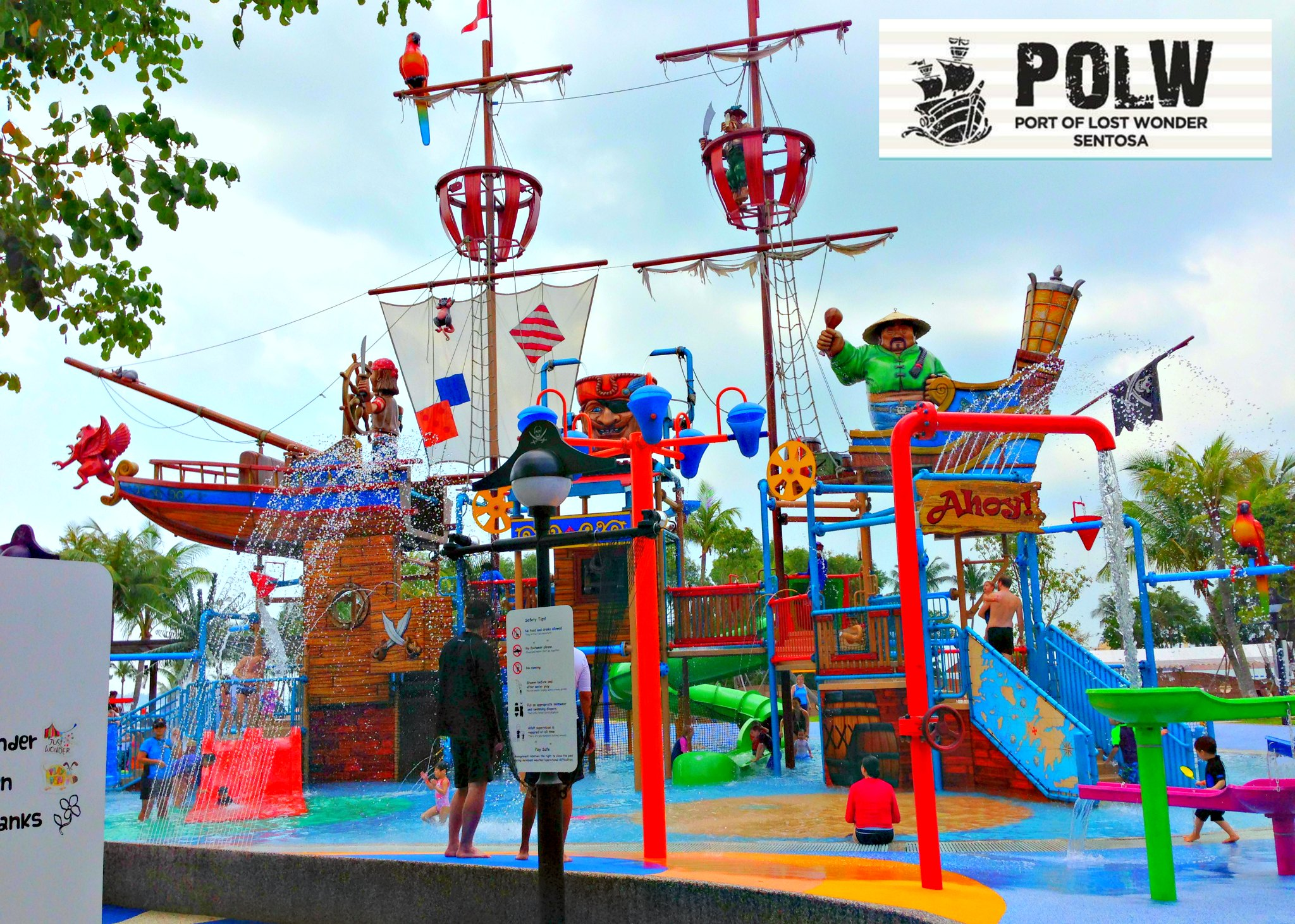 port of lost wonder in sentosa birthday party