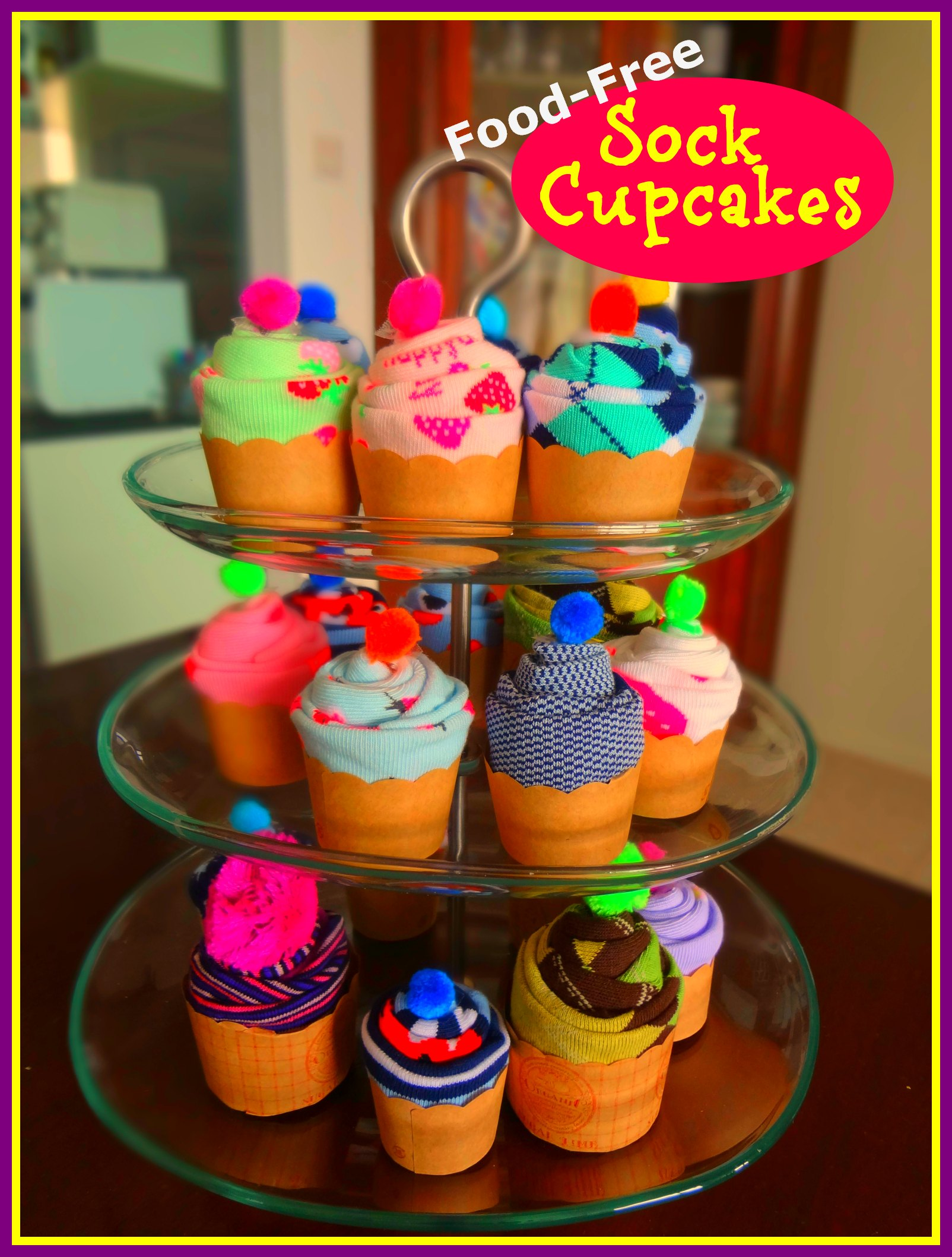 ' ' from the web at 'http://www.supermommy.com.sg/wp-content/uploads/2013/06/Sock-Cupcakes-1st-Pic1.jpg'
