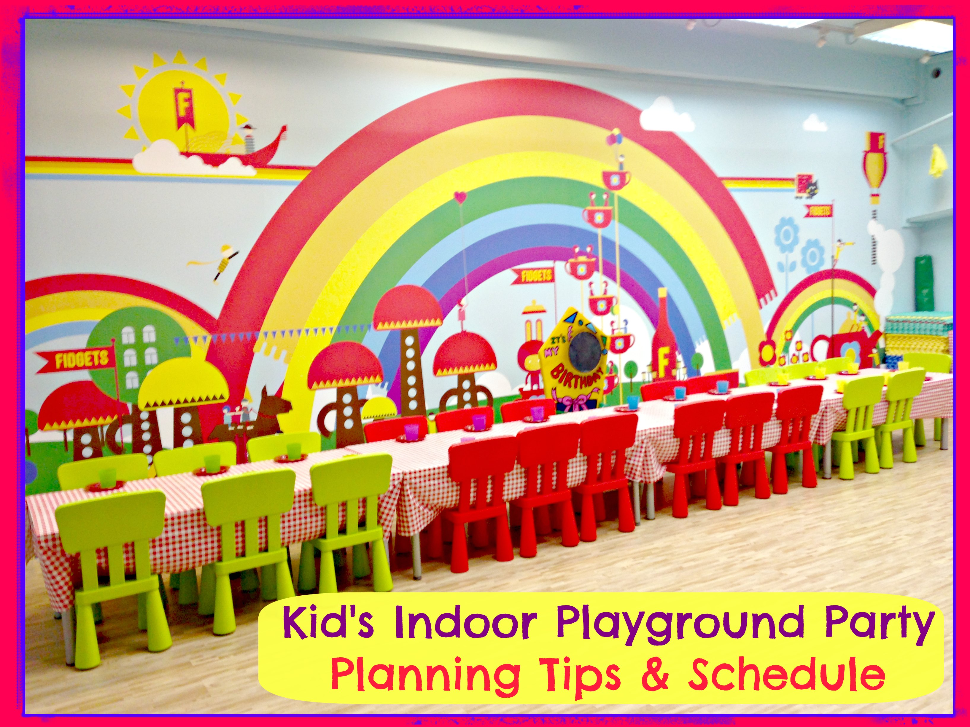 Kid 39 s playground birthday party venue planning schedule for Indoor party places for kids