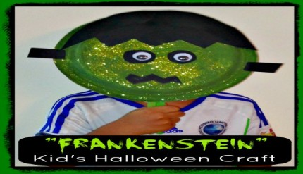 Frankenstein - Halloween Easy Kid's Paper Plate Craft