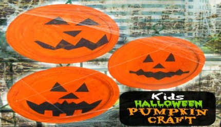 Halloween Easy Kid's Jack-O-Lantern Craft