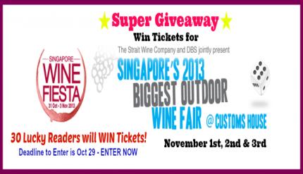 Singapore Wine Fiesta - Ticket Giveaway