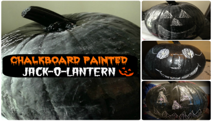 Halloween Kid's Activity - Chalkboard Pumpkin