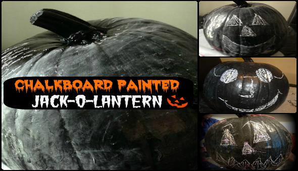 Halloween Kid's Activity - Chalkboard Pumpkin