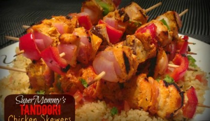Indian Tandoori Chicken Grilled Skewers