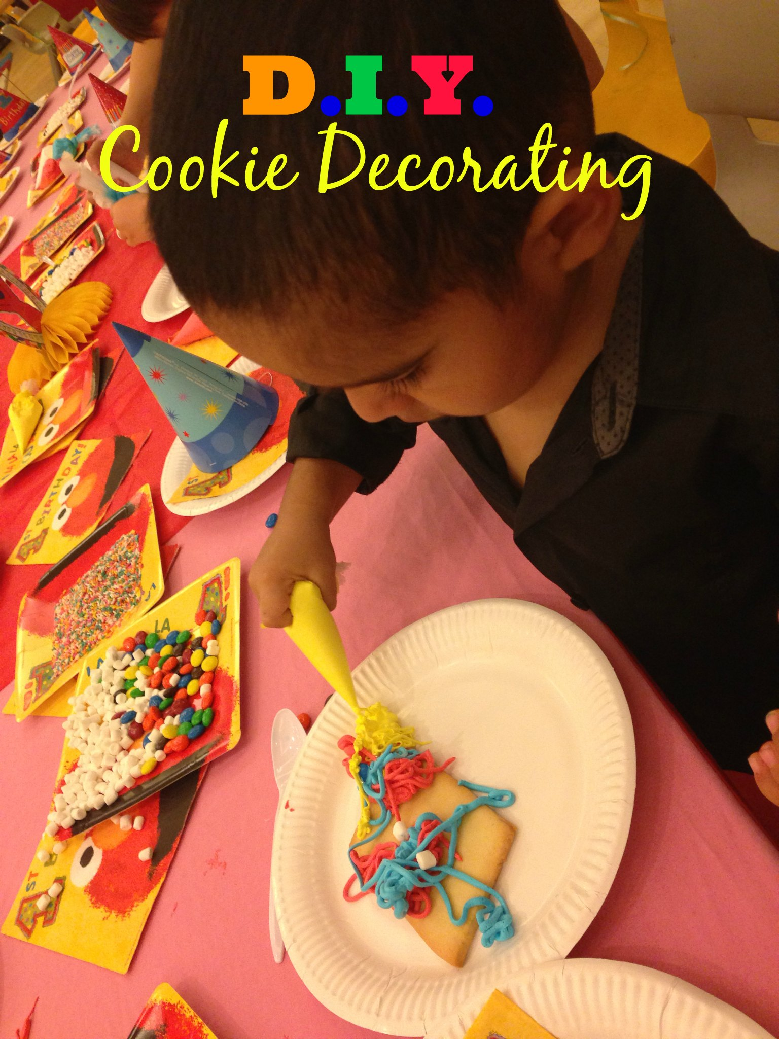 kid s cookie decorating activity an easy birthday party idea