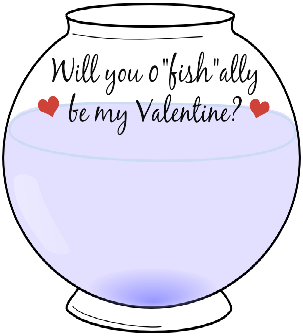 free valentine's day card printable / fishbowl valentine, Powerpoint templates
