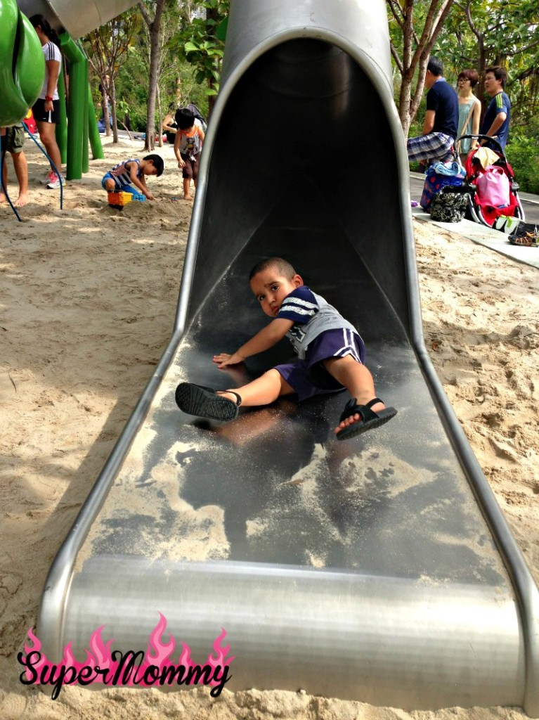 Slides at The Children's Garden