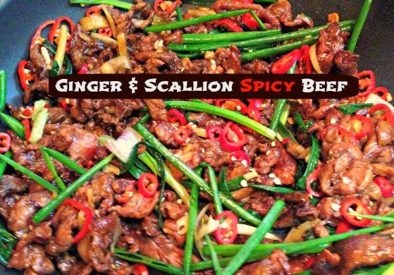 Ginger & Scallion Spicy Beef Recipe