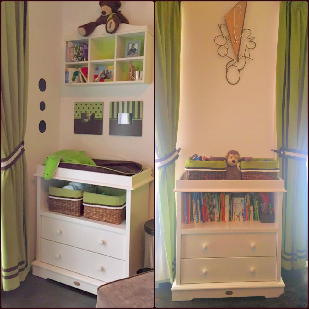 Baby Changing Table into Bookshelf