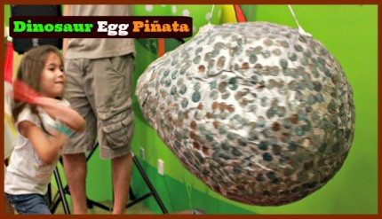 How to make a dinosaur egg birthday party pinata
