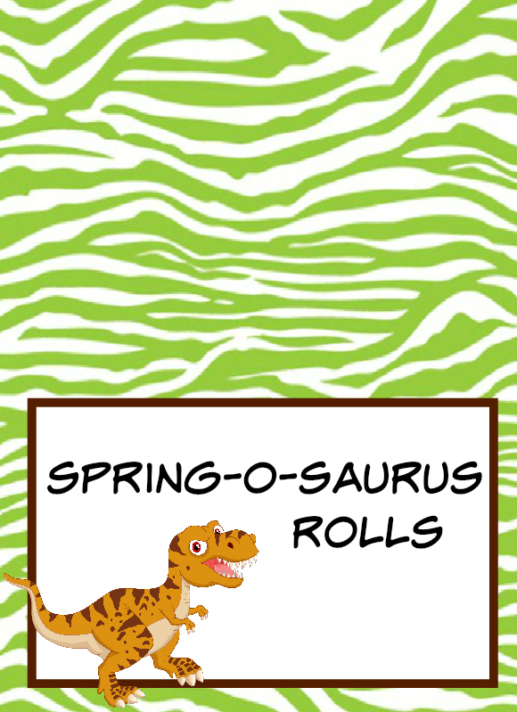 Dinosaur Party Food Labels  Free Printable