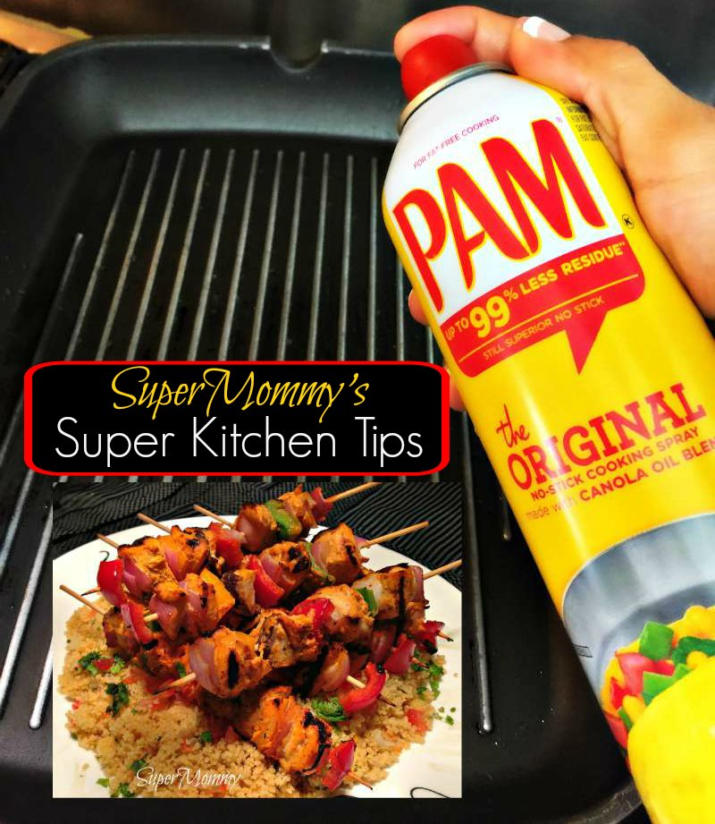 Kitchen Tips for using PAM Cooking Spray