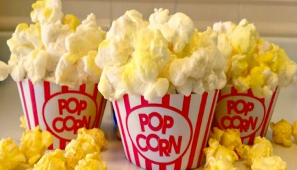 Free Printable Popcorn Cupcakes Wrapper Movie Night Birthday Party