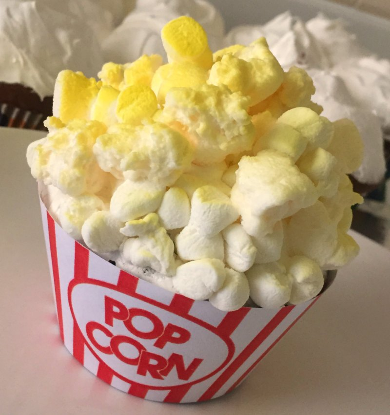 Popcorn Cupcakes Movie Night Birthday Party Food