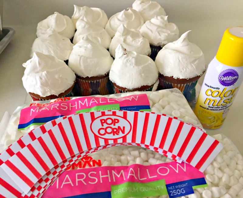 Movie Night Birthday Popcorn Cupcakes