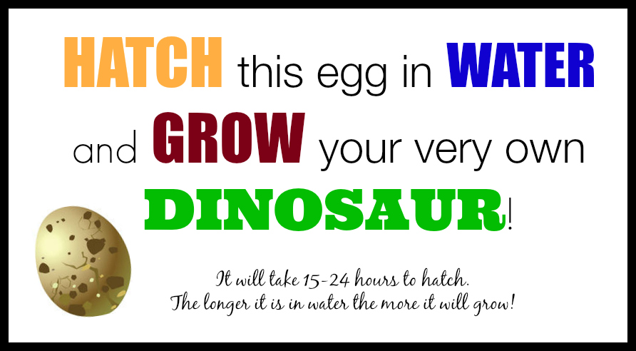 Dinosaur BIrthday Party Free Printable Eggs