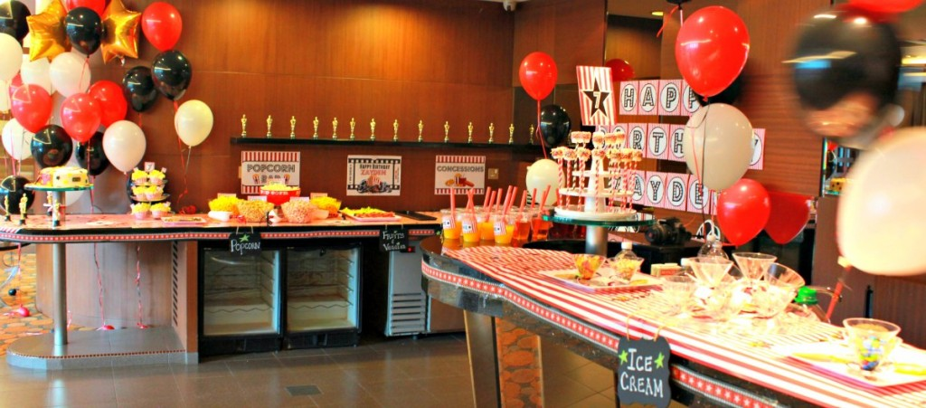 Movie Night Theme Kids Birthday Party Concessions Stand