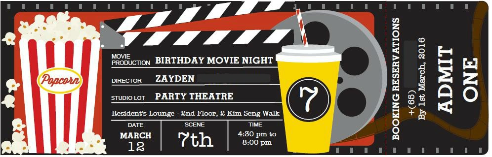 Movie Night Themed Kid's Birthday Party