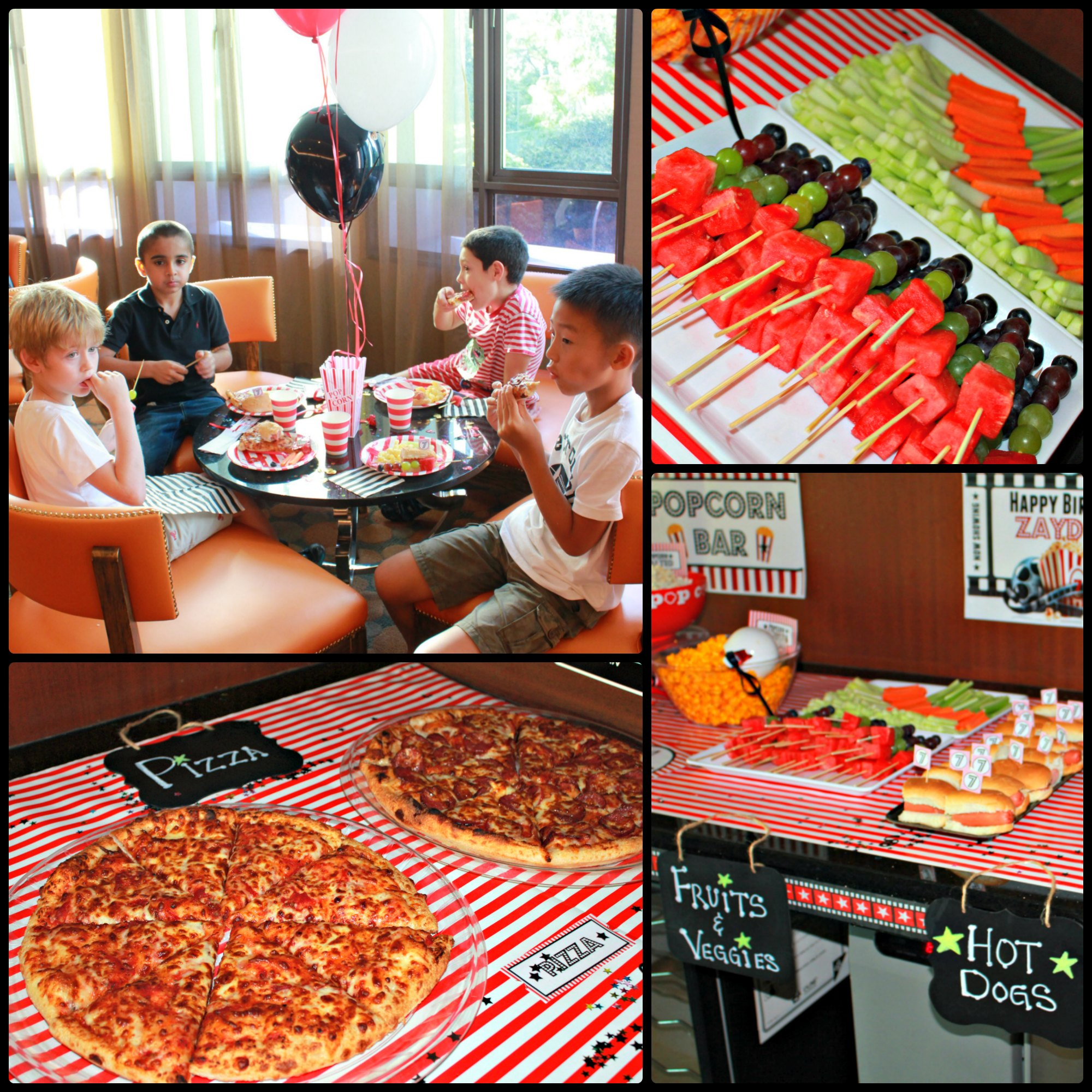 Movie Night Themed Kids Birthday Party Ideas