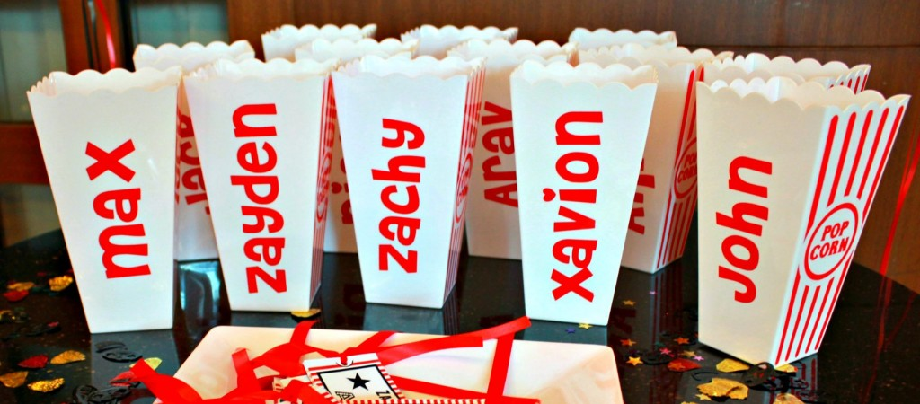 Movie Night Themed Kids Birthday Party