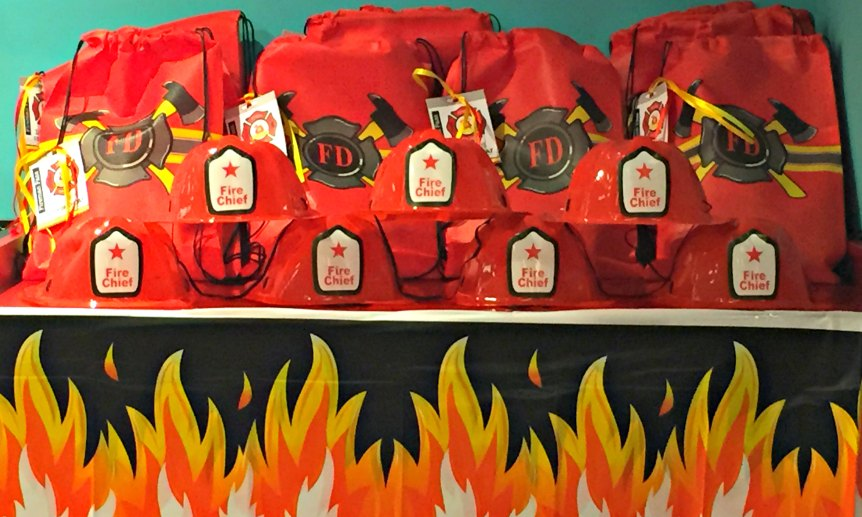 1 firefighter theme birthday party