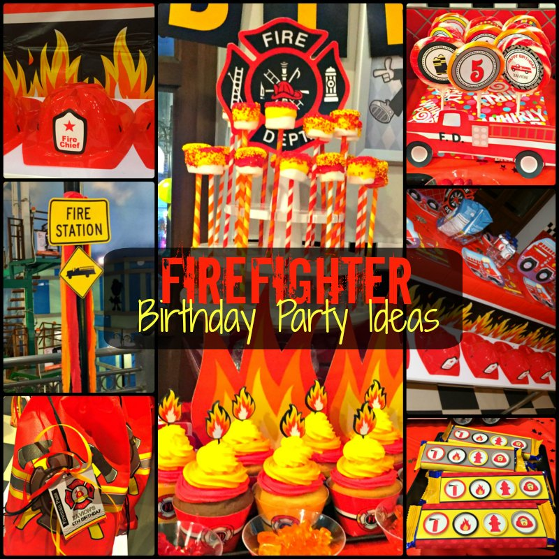 Firefighter Kid's Birthday Party Ideas