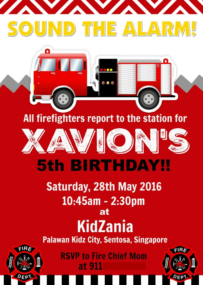 Quot Firefighter Quot Themed Kids Birthday Party Ideas