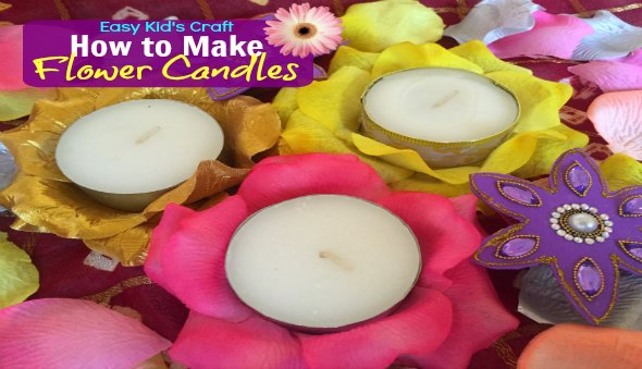 """How to Make a Diwali """"Flower"""" Candle"""