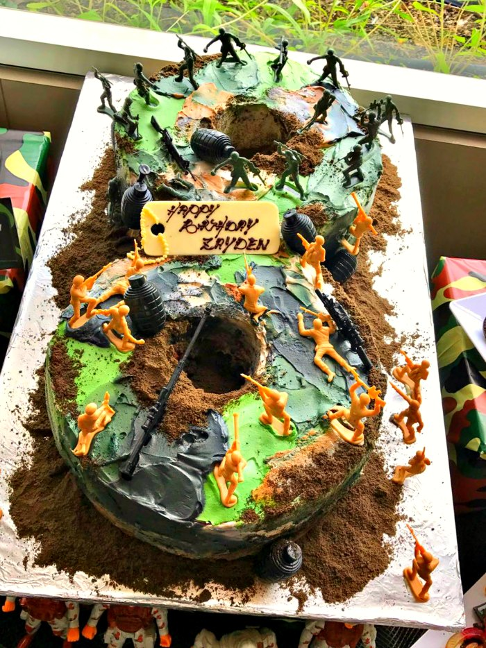 Camouflage Military Laser Tag Birthday Boys Party Ideas