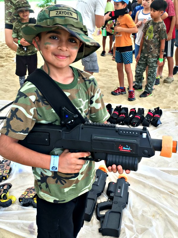Tag Team laser tag kids adult birthday party event venue singapore NERF drone tag archery tag mixed reality laser tag birthday party package