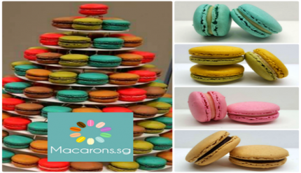 Buy Rent Macaron Tower Wedding Favour Customised Macarons Singapore SG Delivery Party Centerpiece Cake Anniversary Wedding Halal