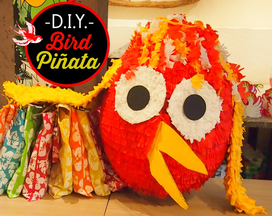 Crazy Bird Angry Bird Pinata Easy DIY Pinata Step by Step How to Make Homemade Pinata Guide Ideas Pictures