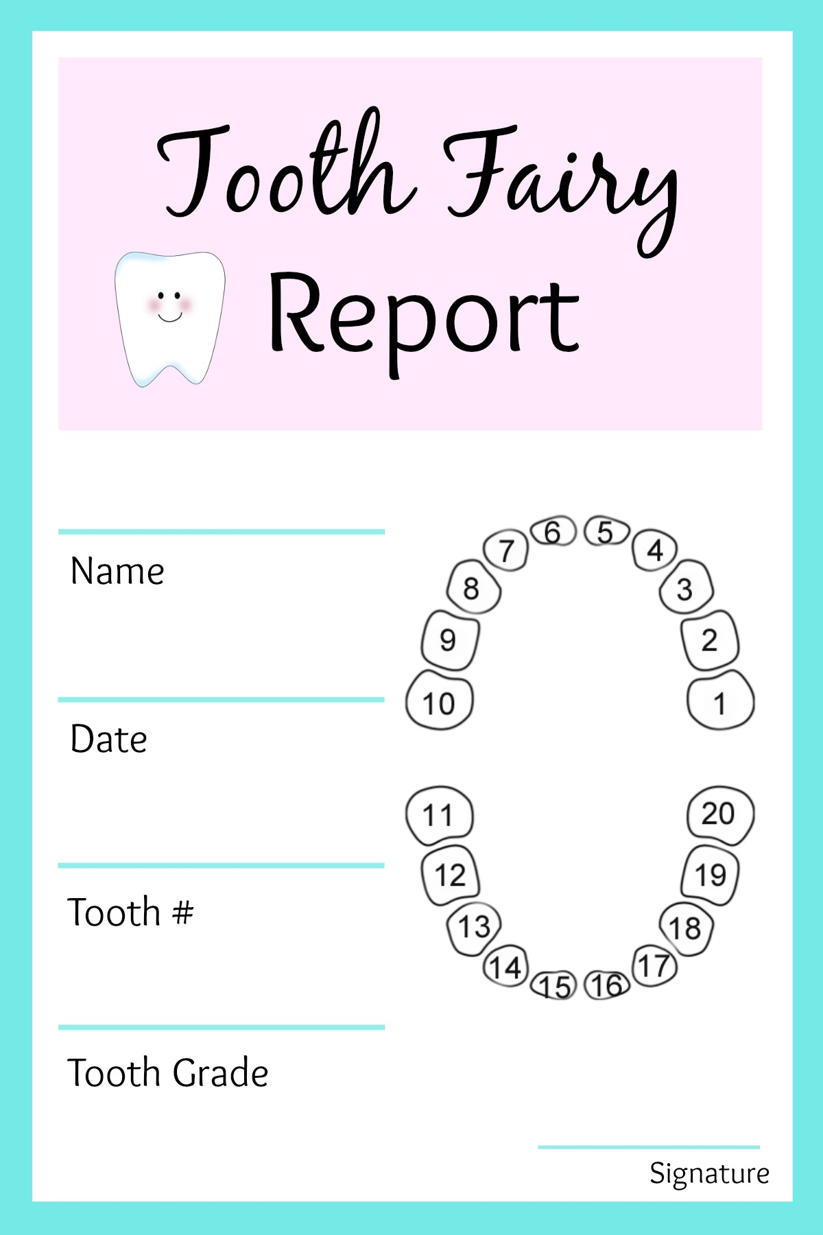 Free Printable Tooth Fairy Letters Certificates
