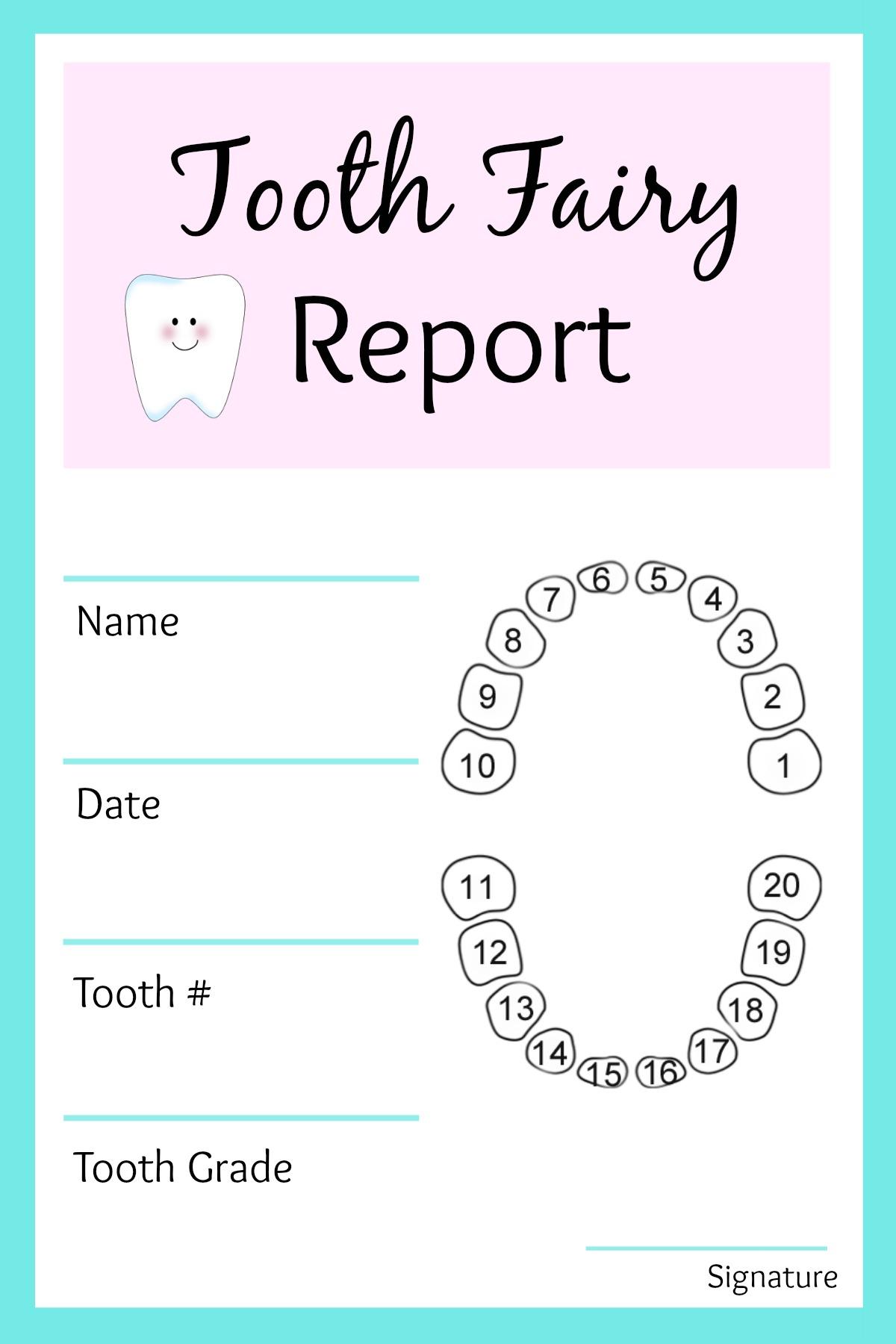 Tooth Fairy Receipt Printable Pdf