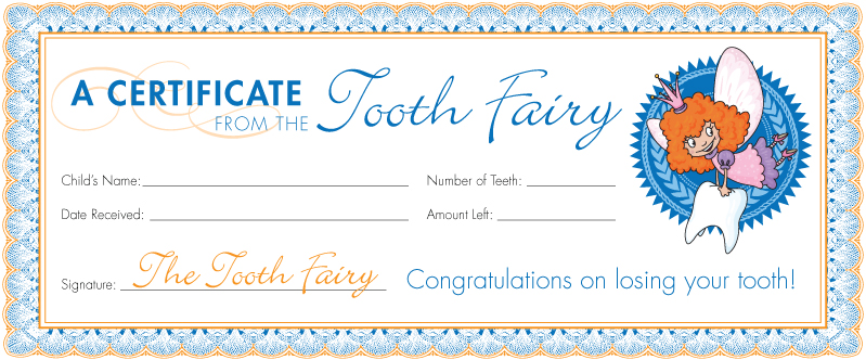 Tooth Fairy Certificate Printable Boys