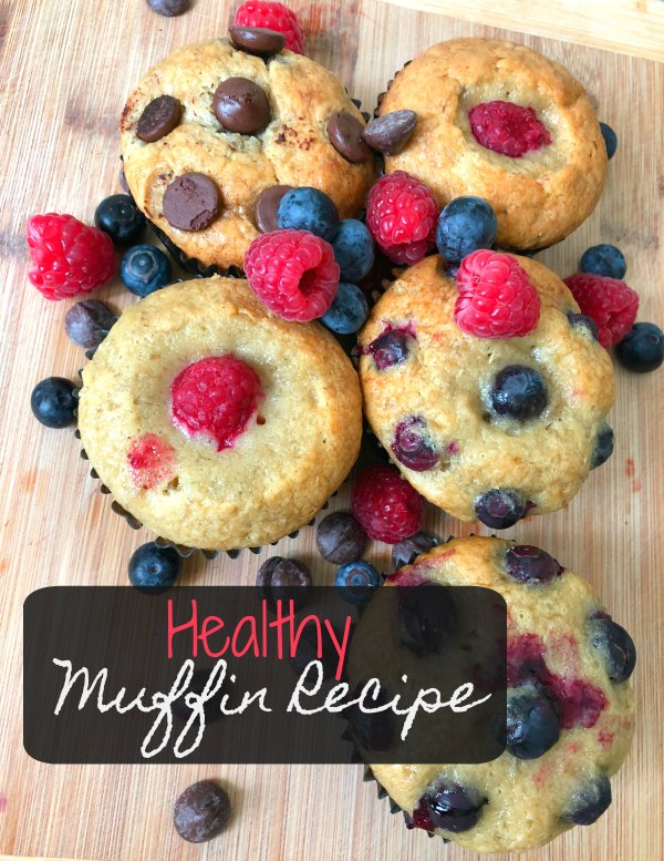 Healthy Banana Chocolate Blueberry Muffin Recipe Kids Picky Eaters Easy Quick 4