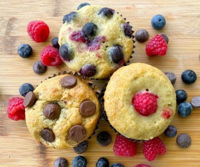 Healthy Banana Chocolate Blueberry Muffin Recipe Kids Picky Eaters Quick Easy Recipe 5