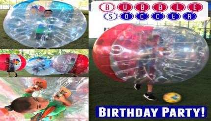 Bubble Soccer Bubble Bump Singapore Kids Birthday Party Package Unique Birthday Venue 6