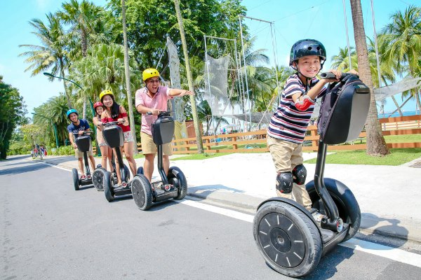 Sentosa Gogreen Segway Things to do in Singapore with kids family activities where to rent segway promotion discount