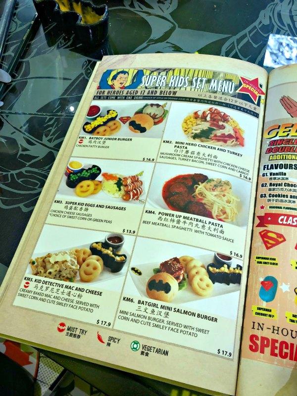 DC Super Comics Super Heroes Cafe Review Singapore Menu Promotion Discounts Food Kids Child Friendly Restaurants MBS Takashimaya 9