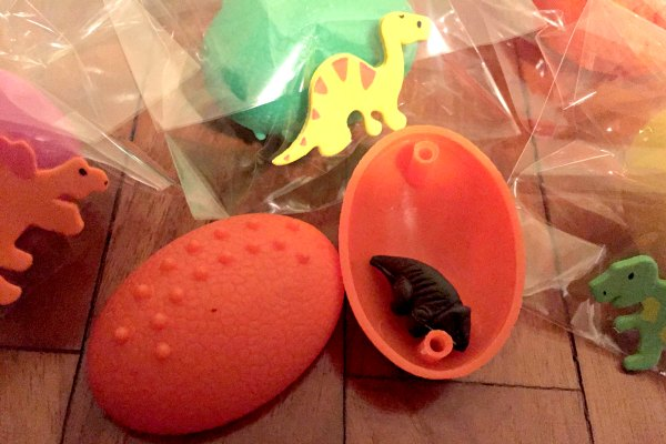 Mini Dinosaurs hatched from the Pinata!